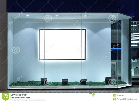 led lights for store windows empty shop window stock illustration image 55346089