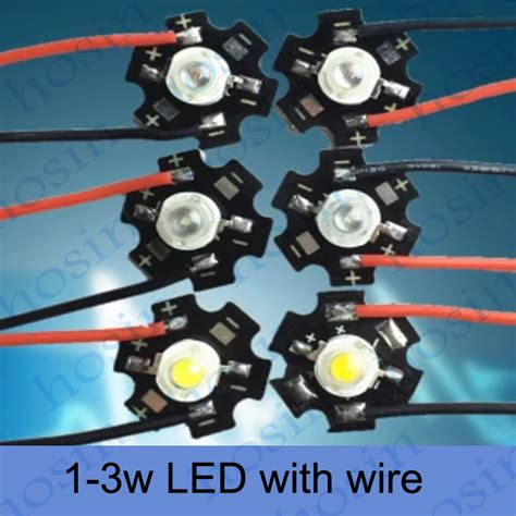 Led 1 Watt Bright Bright 1w Led Diode With Wire High Power Led Chip