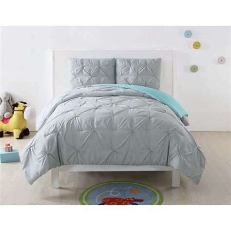 grey twin xl comforter anytime pleated silver grey twin xl comforter set