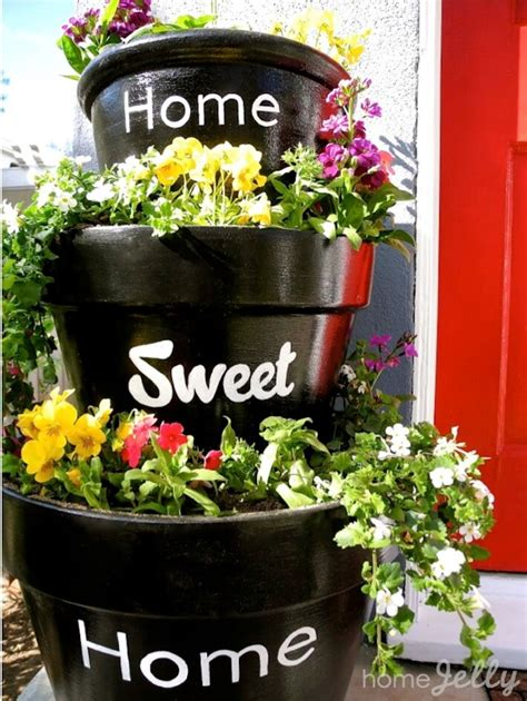 Stacked Planters by Stacked Planters For Your Home Sweet Home Homejelly
