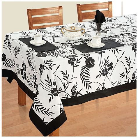 Dining Table Cloth Sets 6 Seater Dinner Table Linen Set Kitchen Dining Tablecloth Napkins Cloth