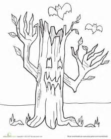 color haunted tree worksheet education
