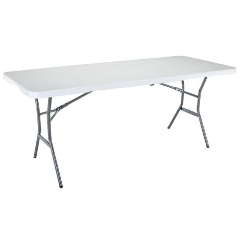Lifetime 6ft Folding Table Lifetime 6 Ft White Granite Fold In Half Table 25011 The Home Depot