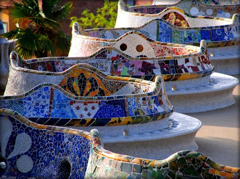 park guell bench park guell barcelona attractions