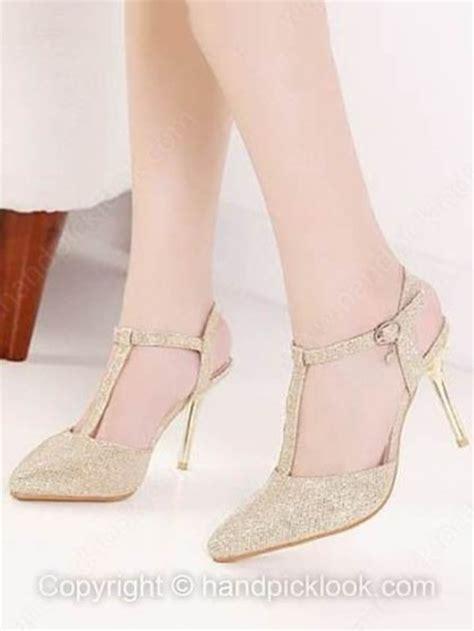 shoes high heels golden shes wheretoget