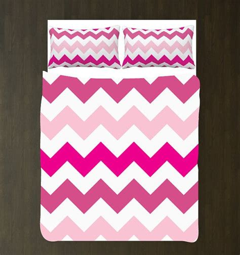 Set White Flowy Pink Gil custom wide chevron duvet bedding set light pink pink pink white any colors you want xl