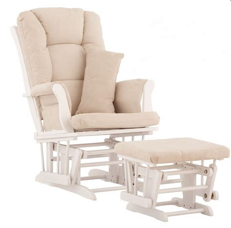 Glider Chair And Ottoman Nursery Rocker And Gliders Ottoman Wood Rocking Chair With Padded Cushion Living Room Furniture