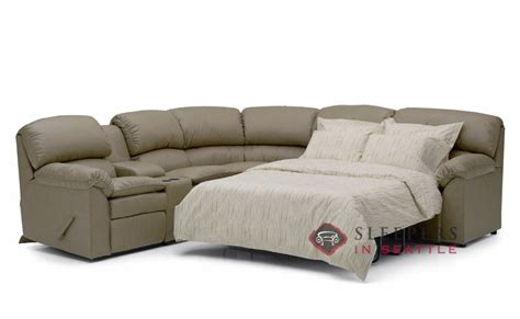 leather sectional with recliner and sleeper palliser pembina large reclining true sectional leather