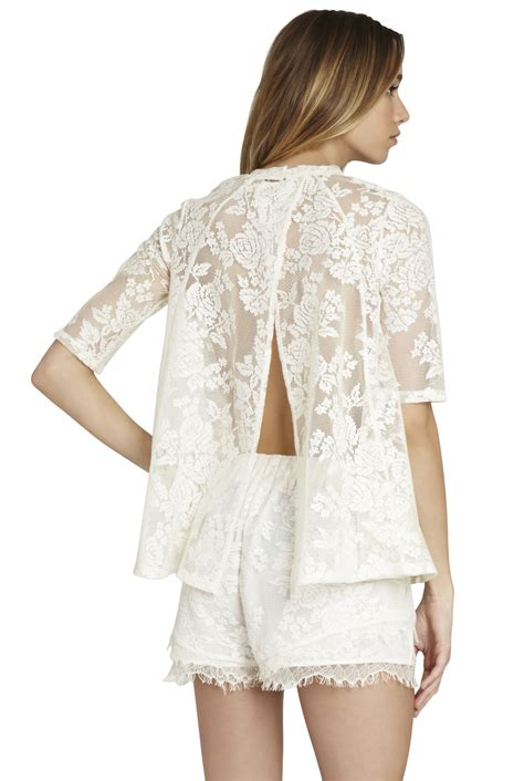 906 Pevita Back Lace Top open back lace top