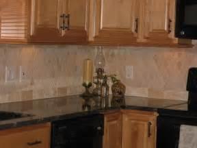 Travertine Tile Kitchen Backsplash Travertine Backsplash Traditional Kitchen