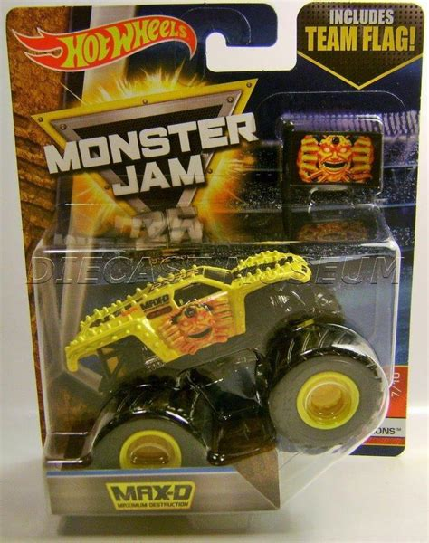 diecast jam trucks max d maximum truck yellow jam truck