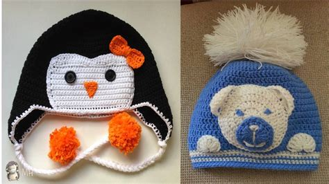 imagenes de gorros de animales gorras con dise 209 o de animales tejidos a crochet para ni 209 os