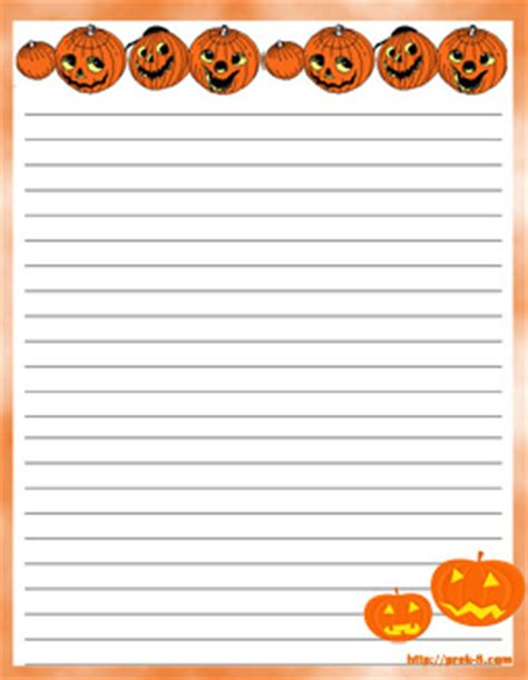 printable fall writing paper with lines 7 best images of free printable fall writing paper uc