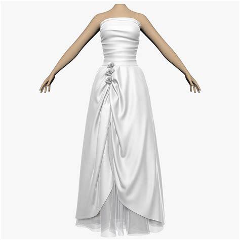 3d model wedding dress shoes