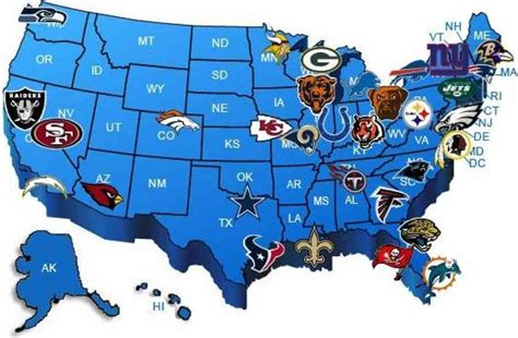 nfl usa map map of nfl teams holidaymapq
