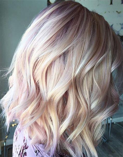 rose gold blonde hairstyles  short hair
