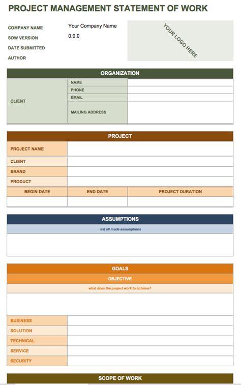Free Statement Of Work Templates Smartsheet Work Project Template