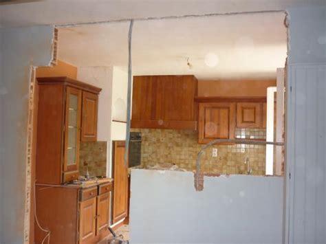 faire une 駑ulsion en cuisine ouverture d un pan mur en briques dans une cuisine pour un