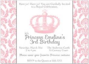 Princess Invitation Template by Princess Crown Invitation Template Themesflip