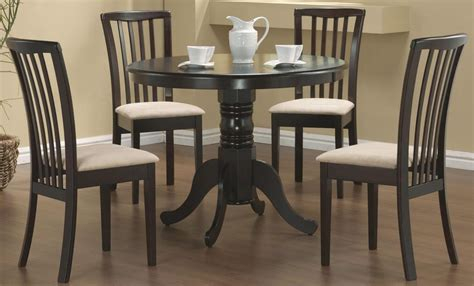 cappuccino dining room furniture brannan cappuccino round dining room set from coaster