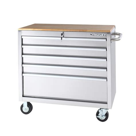 rolling tool cabinet workbench husky mobile toolbox jobsite rolling portable tool storage