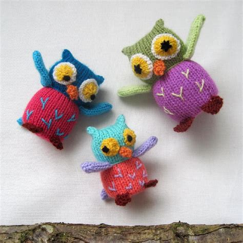 knitting pattern toys owl family knitting pattern by toyshelf knitting