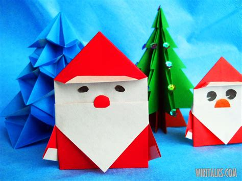 How To Make Paper Santa Claus - how to make santa claus using origami wiki talks