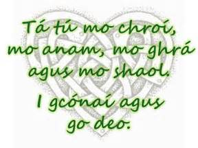 the look and sound of gaelic especially when it means quot you are my my soul my