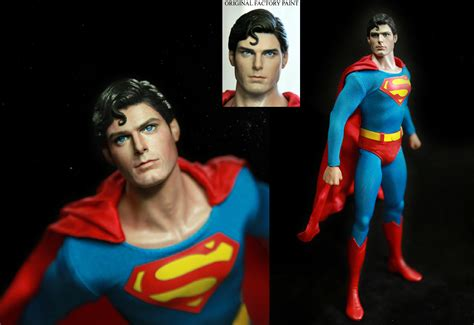 christopher reeve hot toys hot toys superman christopher reeve figure repaint by
