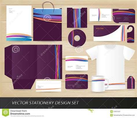 stationery layout vector vector stationery design set stock vector image 24631041