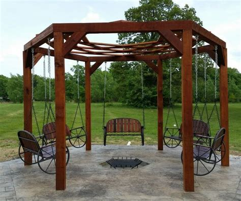 hexagon swing plans 1000 images about backyard projects tips and ideas on