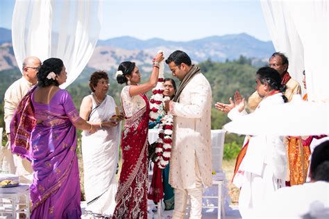 traditional indian wedding at the chalk hill winery two bright lights