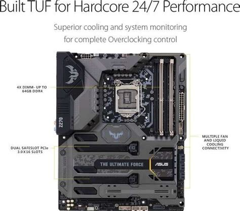 Motherboard Asus Tuf Z270 2 rog asus tuf z270 1 lga1151 ddr4 dp hdmi m 2 usb 3 1 z270 atx motherboard 90mb0s20 m0eay0