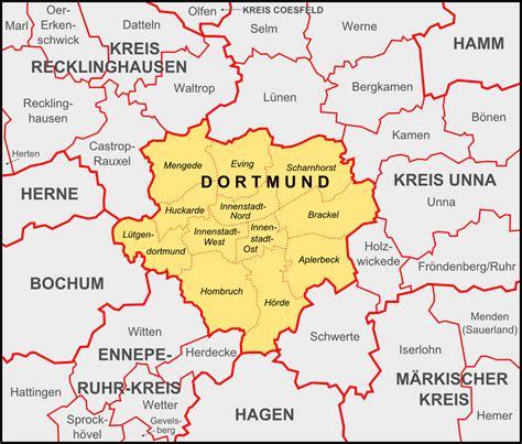 dortmund map of germany dortmund und umgebung 187 dortmund links