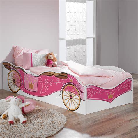 bett komforthöhe 120x200 kinderbett prinzessin kutsche rosa jugendbett bett