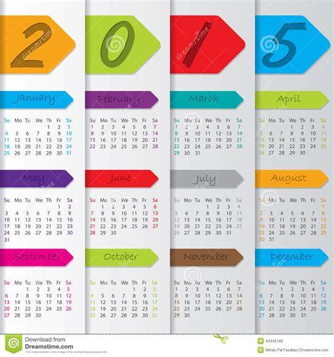 calendar ribbon design arrow ribbon calendar for the year 2015 stock vector