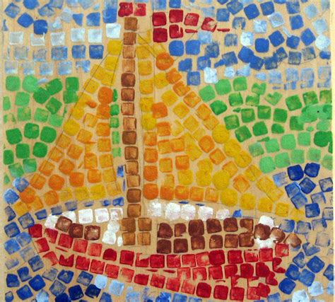 mosaic craft for artist inspired for colorful mosaic inspired by