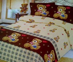 Sprei Kain Kahatex Motif Bunga Tanpa Bed Cover Ukuran 180 bed cover dan sprei motif teddy syalom store