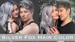 silver fox hair color silver metallic kenra hair color by brown hairs
