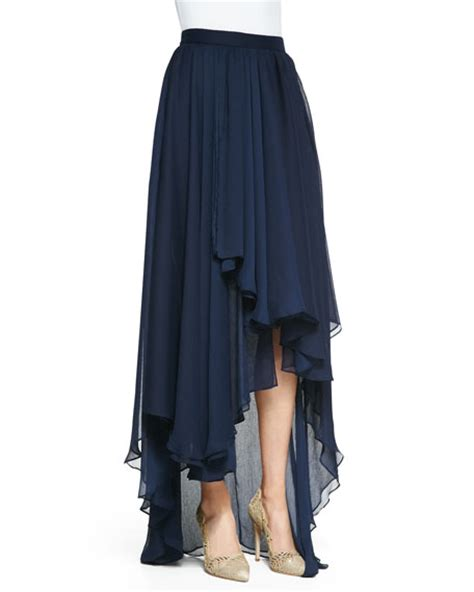andy high low chiffon maxi skirt