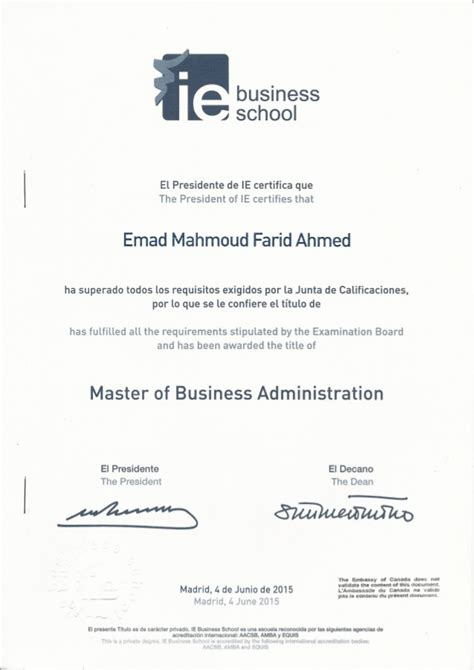 Mba Ie by Legislated Mba Ie Business School Diploma