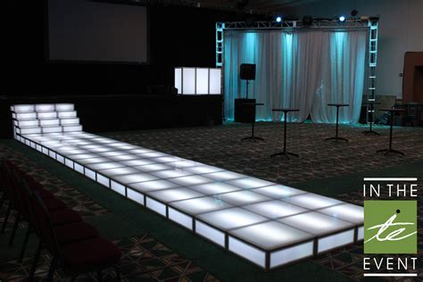 led modular floor panel event rentals