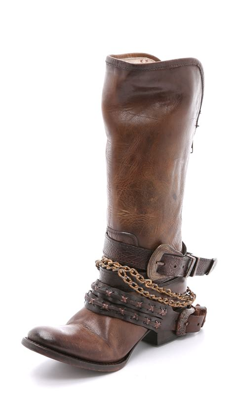 freebird boots freebird by steven harness boots brown in
