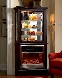 Curio Cabinet With Electric Fireplace Elegant Fireplace Curio Cabinet Betterimprovement Com