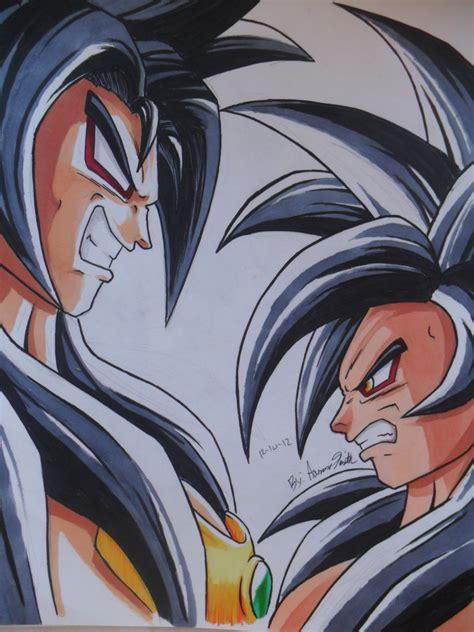 imagenes de goku vs broly broly vs goku by chant4ezkaton2000 on deviantart