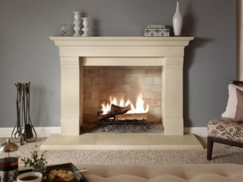 clean  limestone fireplace surround fireplace design ideas