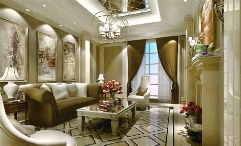 European Style Living Room With Fireplace Design European Interior Design