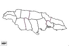 printable map of jamaica with parishes blank jamaican map