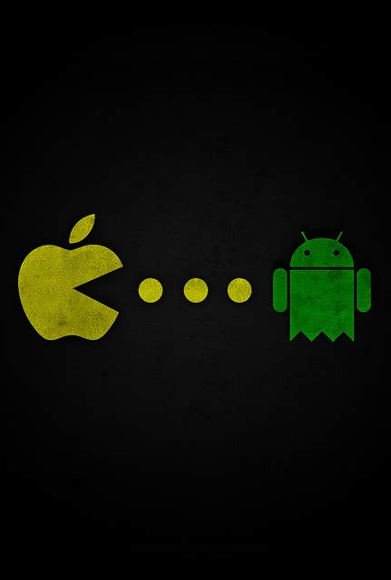 wallpaper apple eating android apple pacman eating android iphone wallpaper ipod