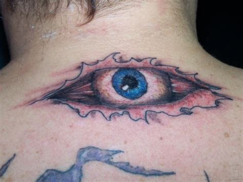 eyeball tattoo on neck eye tattoos page 5